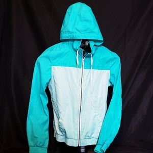 Zine Two-Tone Turquoise Windbreaker Jacket
